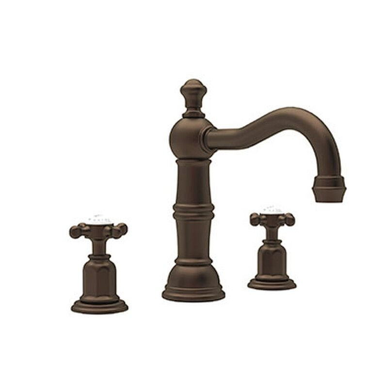 Perrin Rowe Edwardian Widespread Lavatory Faucet With Column Spout Wayfair