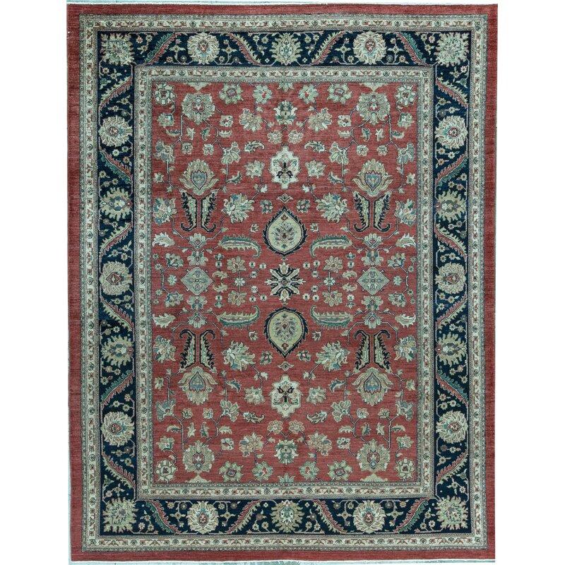 Bokara Rug Co Inc Sultanabad Oriental Hand Knotted Wool Red Blue Area Rug Wayfair
