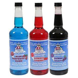 3 Piece Premium Polar Snow Cone and Shaved Ice Syrup Flavor Set