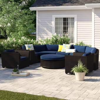 Sol 72 Outdoor Merlyn 4 Piece Seating Group With Cushions Reviews Wayfair