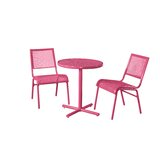 Heber 3 Piece Bistro Set