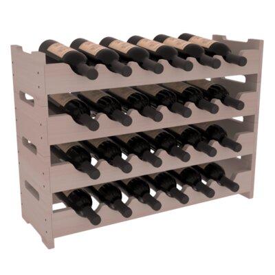 Karnes Redwood Mini Scalloped 24 Bottle Tabletop Wine Rack Red Barrel Studio Finish Gray
