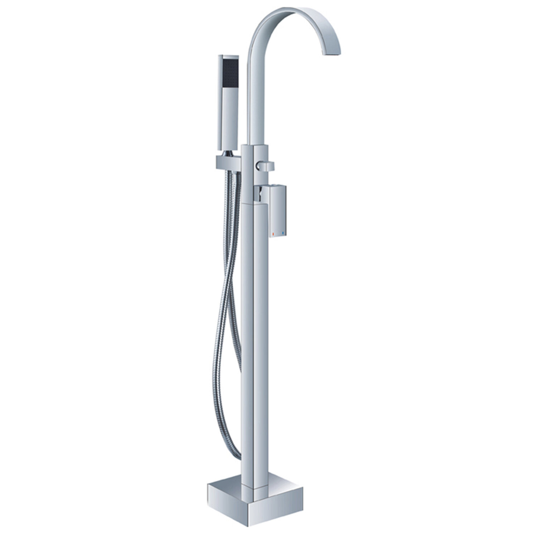 Helixbath Modern Single Handle Floor Mount Freestanding Tub Filler