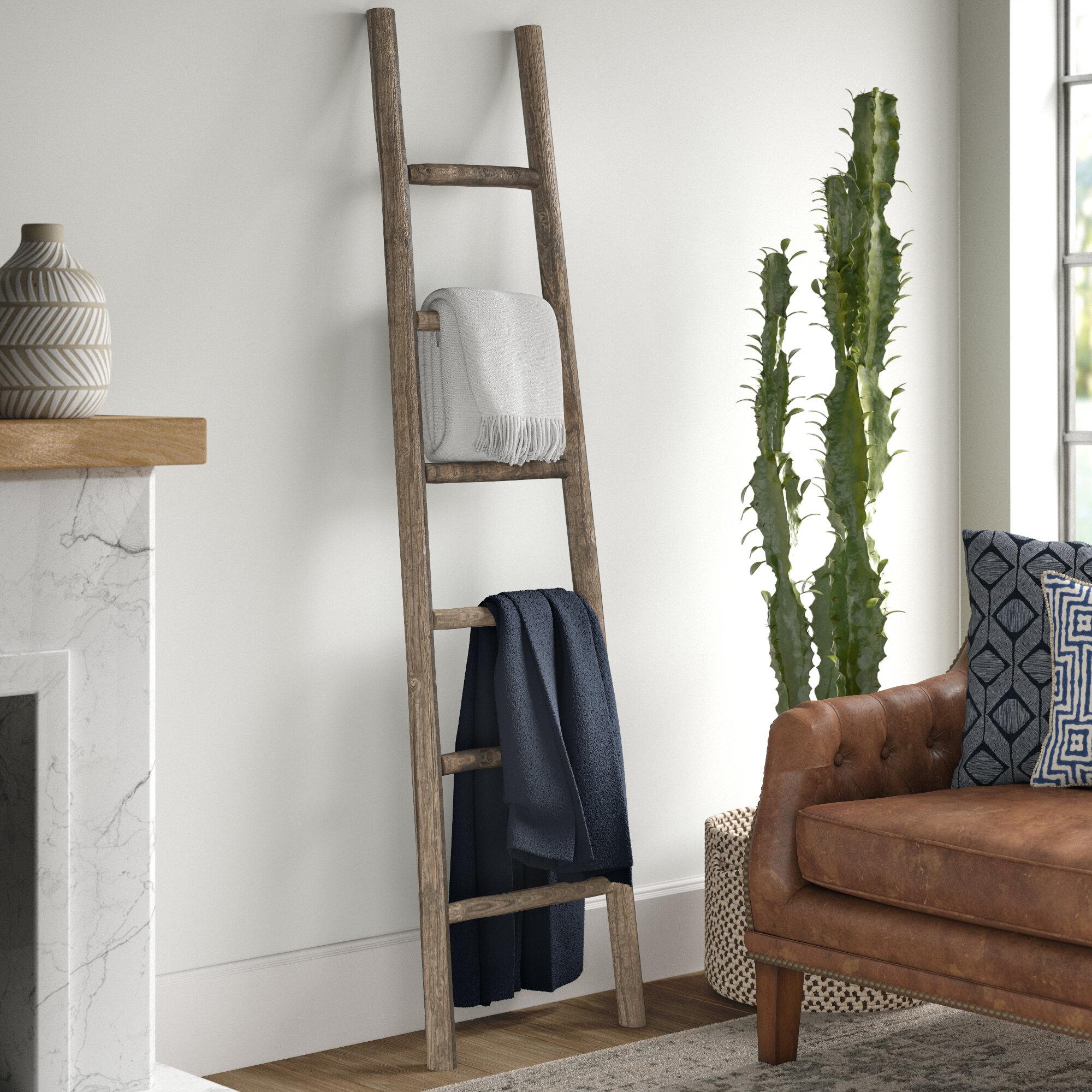Mistana Wooden 6 Ft Blanket Ladder Reviews Wayfair
