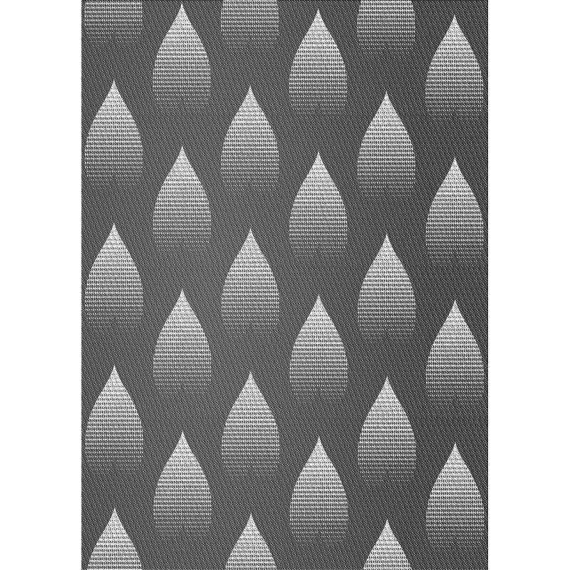 Ebern Designs Wool Gray Off White Area Rug Wayfair