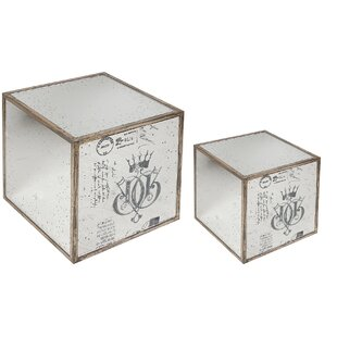 Mirror End Table (2 Piece Set)