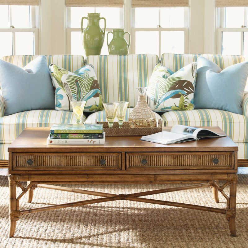 Beach House Coffee Table With Storage