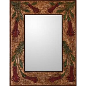 Brown Wall Mirror leather & faux leather mirrors you'll love | wayfair