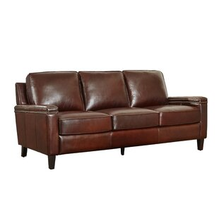 Klas Leather Sofa by 17 Stories Reviews