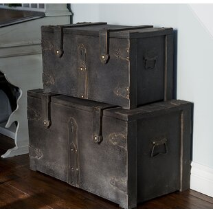 Williston Forge Ridge 2 Piece Game Of Thrones Storage Trunk Set