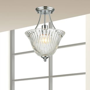 Jill 1-Light Semi Flush Mount by Springdale Lighting