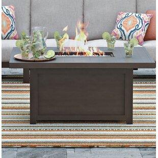 Mistana Luciano Aluminum Propane Fire Pit Table
