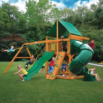 Mountaineer Swing Set With Canopy Roof