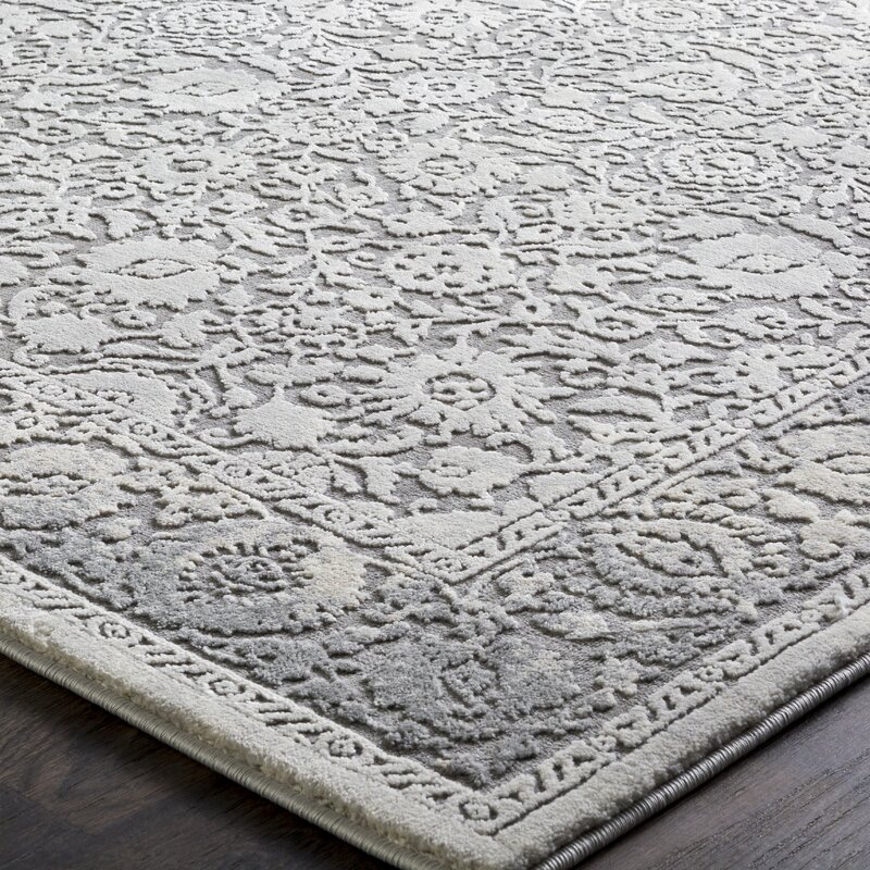 Tilleul Traditional Persian Distressed Gray Area Rug
