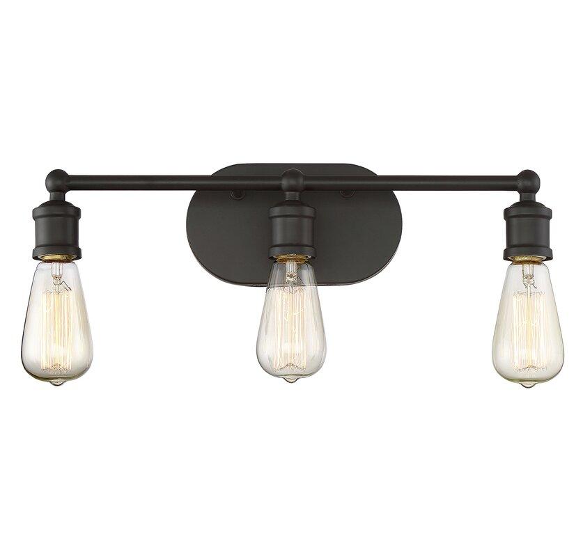 Agave 3 light vanity light fixture