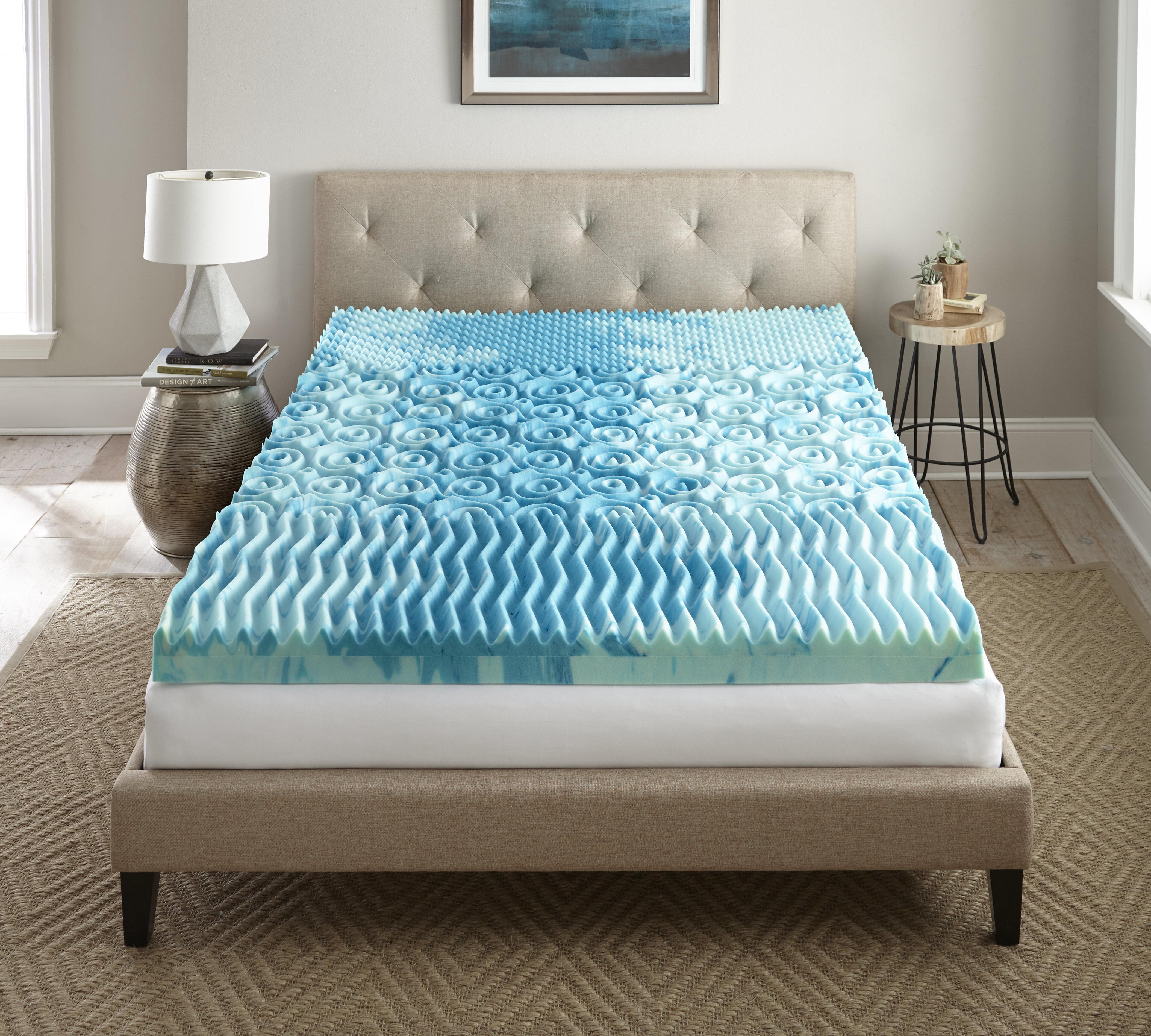 innocor pearl serafina novaform products foam memory gel mattress topper