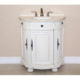 Josh 31 Single Demilune Bathroom Vanity Set by B&I Direct Imports