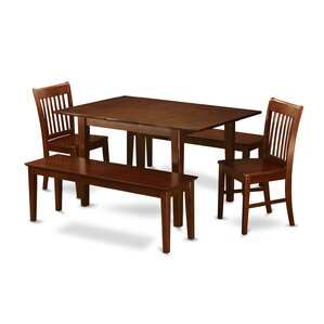 Milan 5 Piece Dining Set by East West Fur..