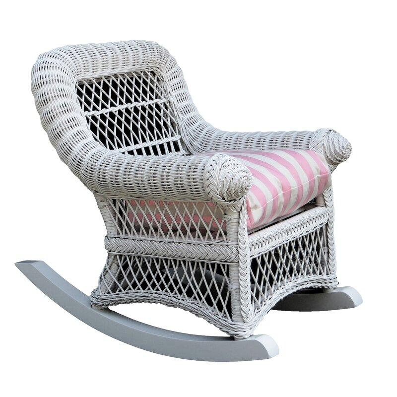 Victorian Cotton Rocking Kids Chair
