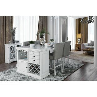 Elroy 5 Piece Drop Leaf Dining Set Canora Grey