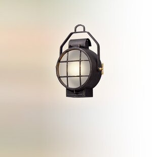 Compare prices Faulkner 1-Light Outdoor Flush Mount By Longshore Tides
