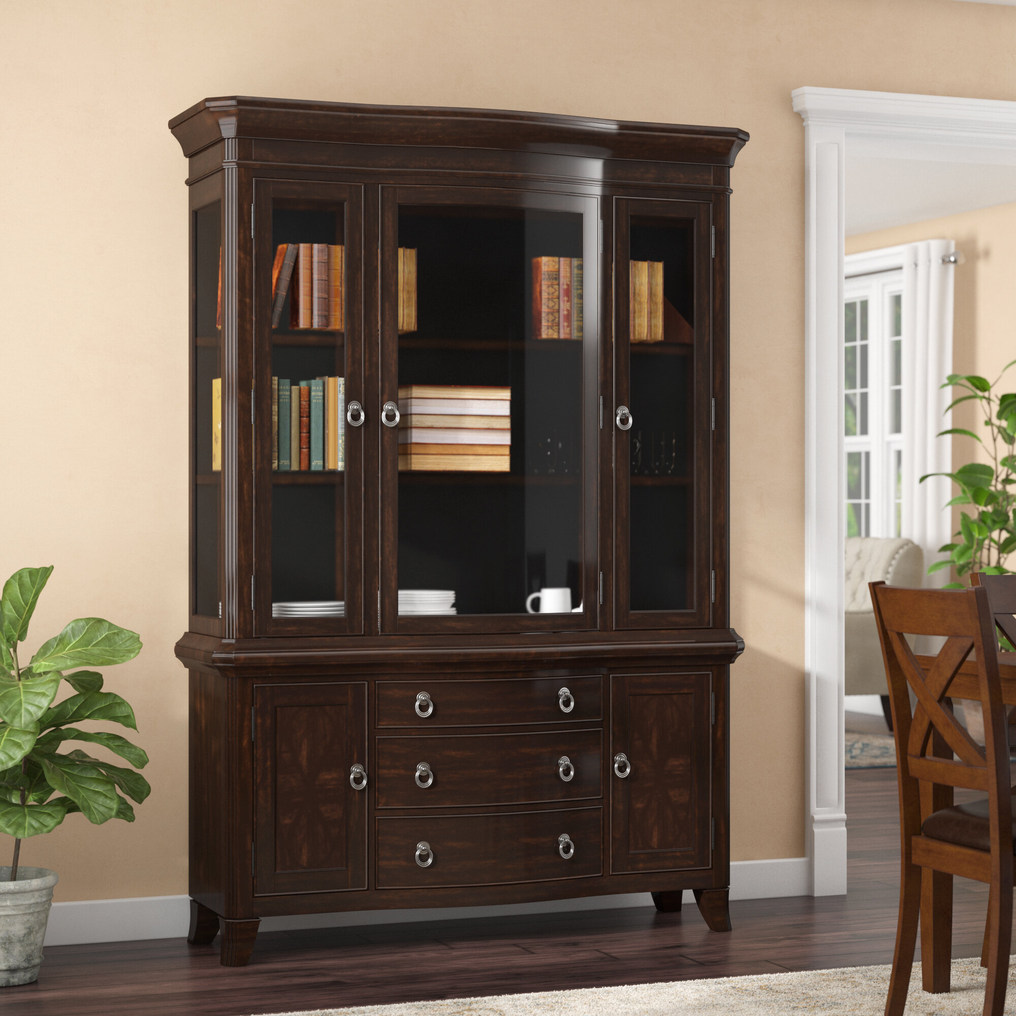 Kinsman Lighted China Cabinet