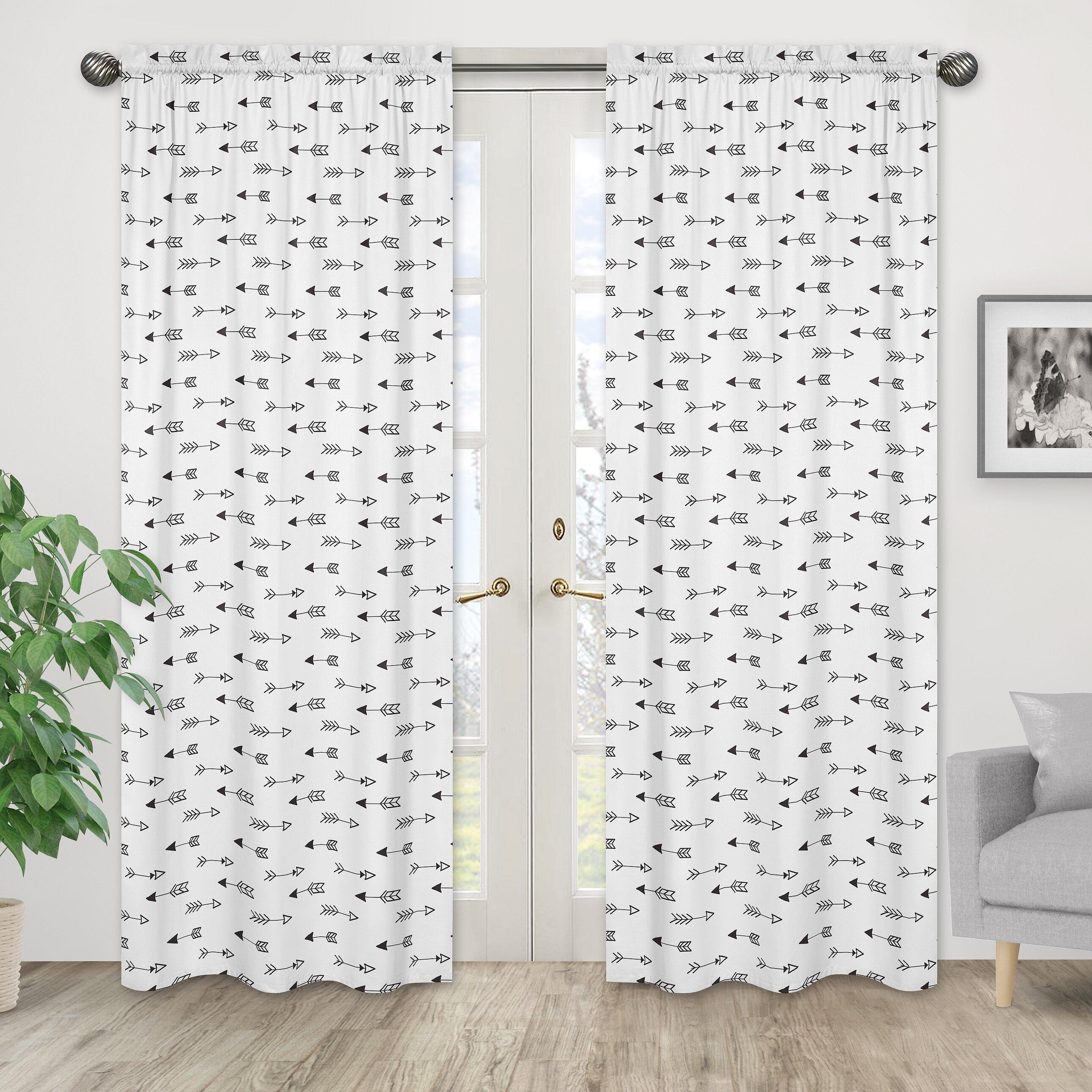Sweet Jojo Designs Fox Arrow Print Semi Sheer Rod Pocket Curtain Panels Wayfair