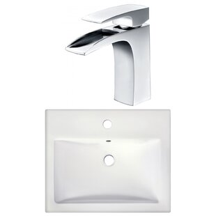 Find the perfect 1 Hole Ceramic Rectangular Drop-In Bathroom Sink with Faucet By American Imaginations
