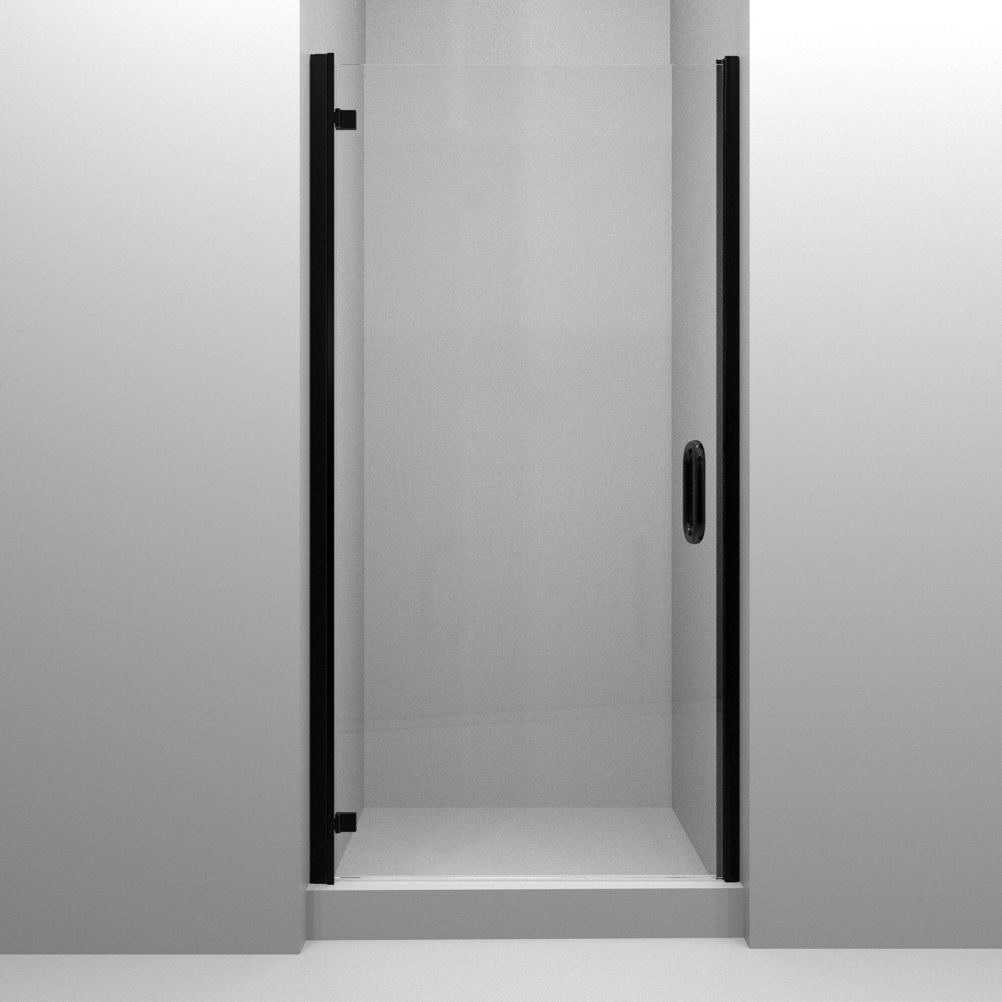Mp Swinging 29 X 73 Hinged Semi Frameless Shower Door