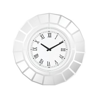 20 Round Clear Glass Wall Clock by House of Hampton
