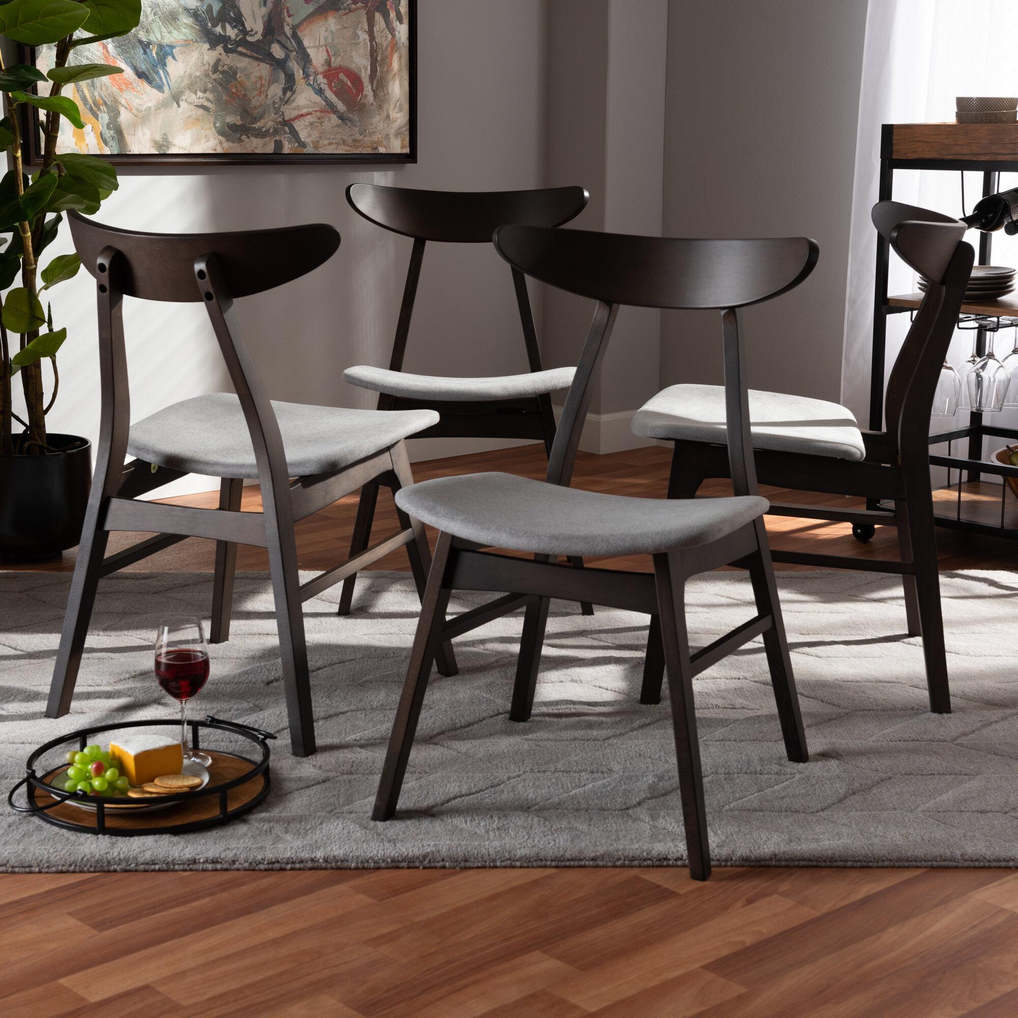 Foundry Select Tamsin Solid Wood Ladder Back Side Chair In Dark Brown Reviews Wayfair