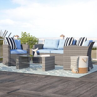 Denton 4 Piece Sofa Set with Cushions By Beachcrest Home