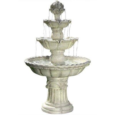 Sol 72 Outdoor Montclair Fibreglass 4-Tier Electric Water Fountain