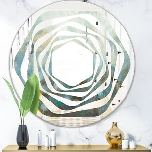 Dots on Glass II Whirl Modern Frameless Wall Mirror by East Urban Home
