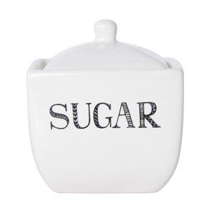 Stoneware Sugar Bowl with Lid