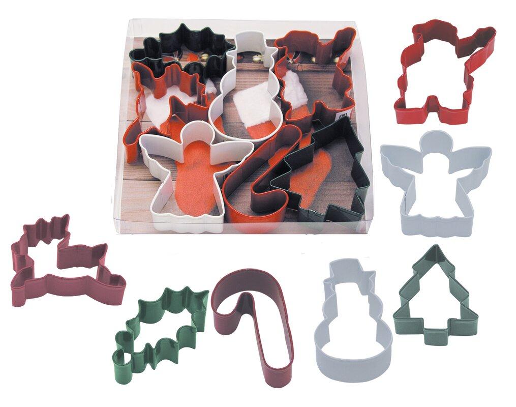 6 Piece Christmas Cookie Cutter Set
