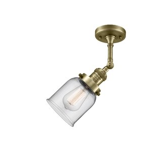 Hanceville 1-Light Semi Flush Mount by Breakwater Bay