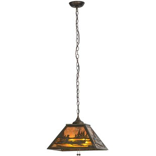 Meyda Tiffany Canoe At Lake 2-Light Pendant