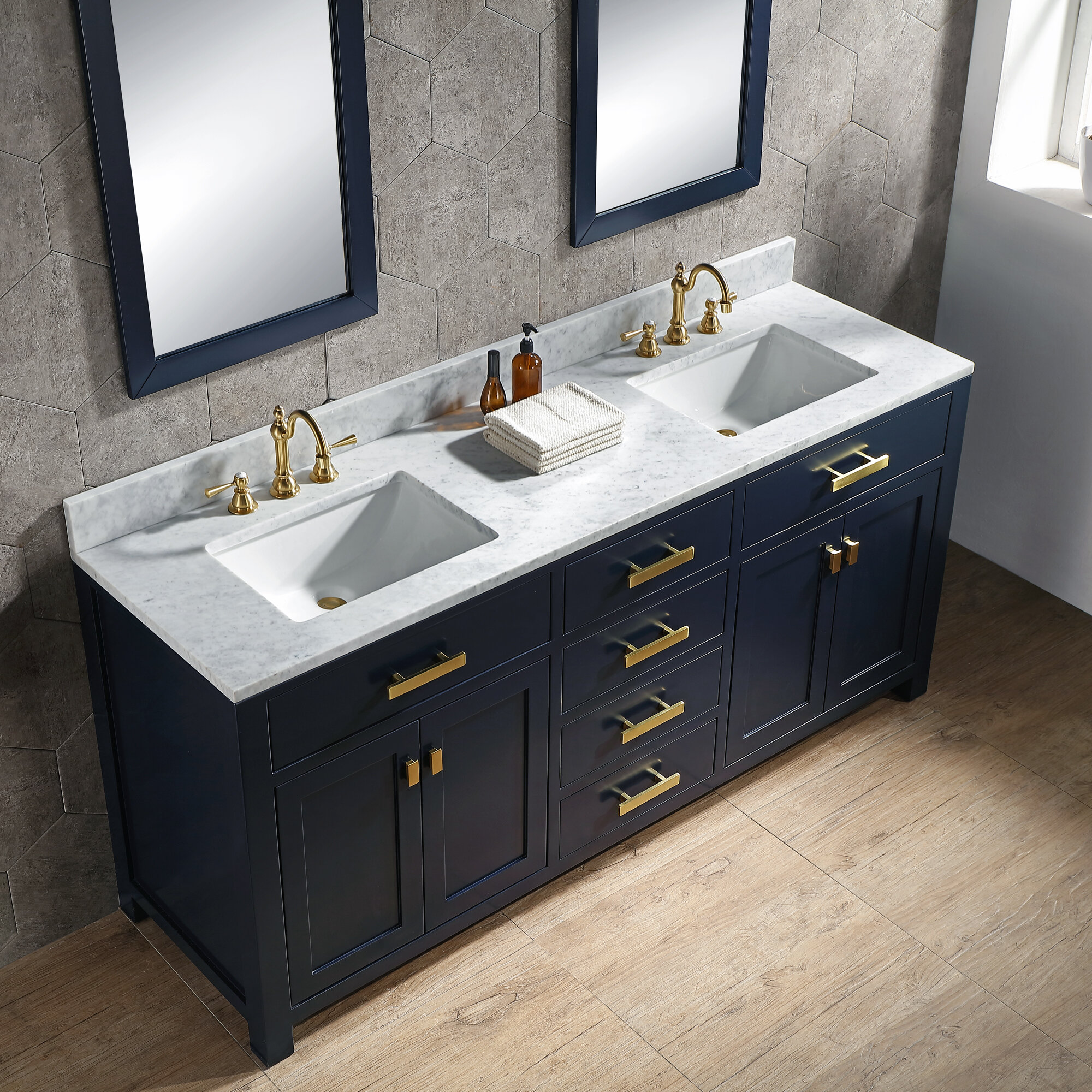 Water Creation Madison 72 Double Bathroom Vanity Set Reviews Perigold