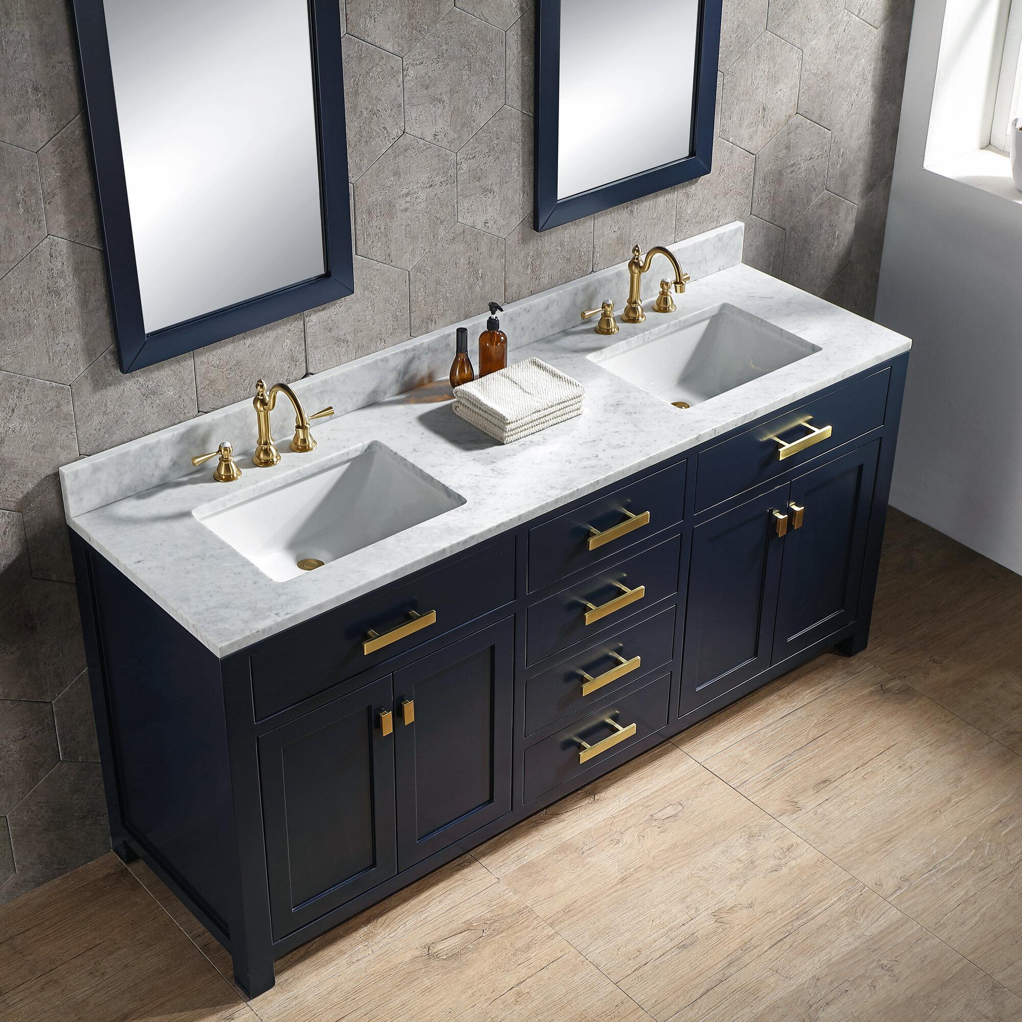 Longshore Tides Okanogan 72 Double Bathroom Vanity Set Reviews Wayfair