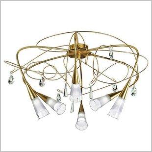 Zanin Lighting Inc. Flute 6-Light Semi Flush Mount