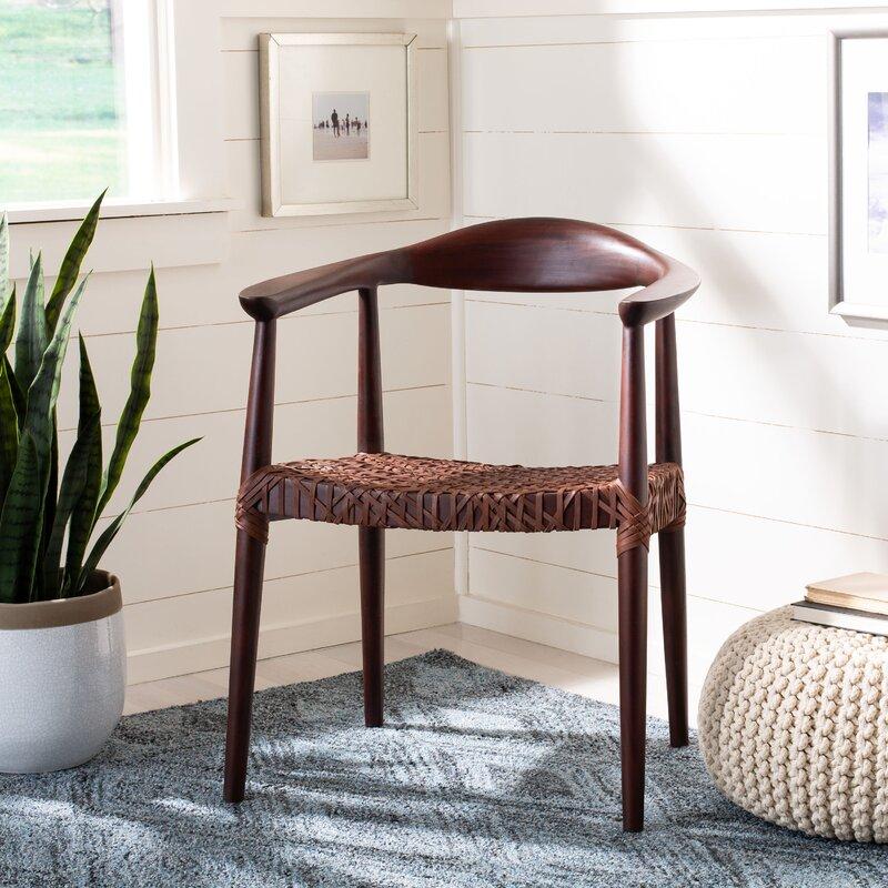 Bradbury Solid Wood Ladder Back Arm Chair