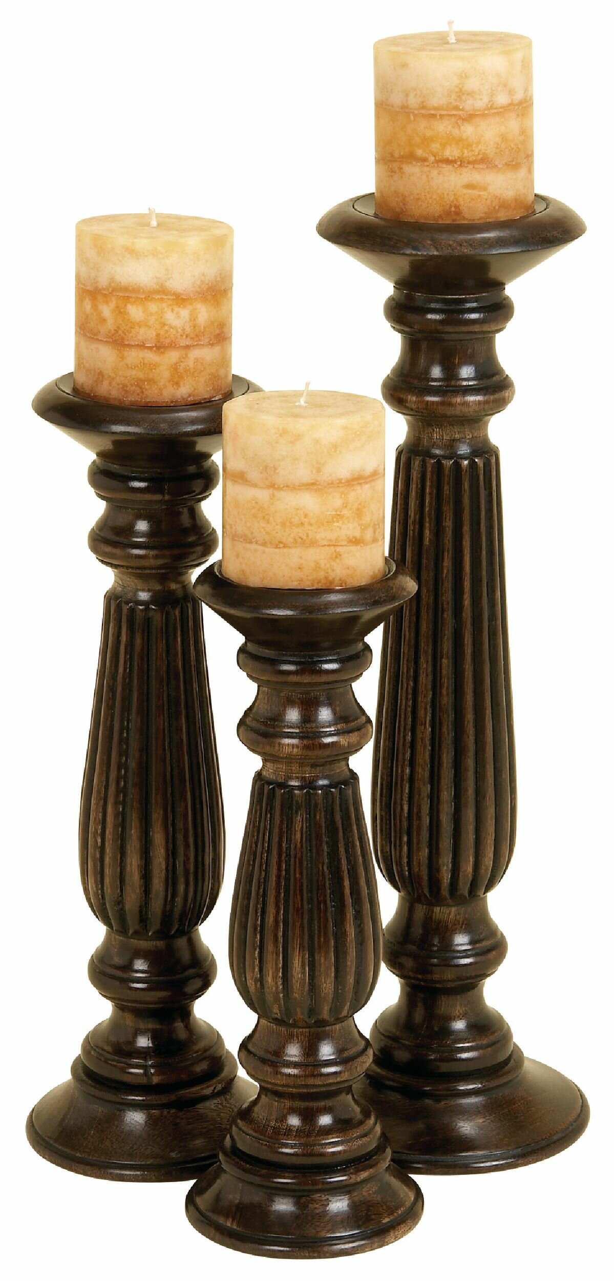 Stupendous Farmhouse Rustic Candle Holders Birch Lane Best Image Libraries Thycampuscom