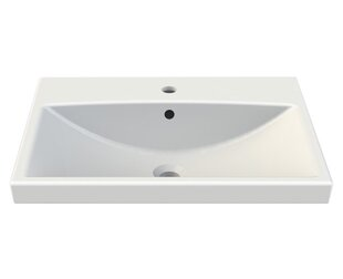CeraStyle by Nameeks Elite Ceramic Rectangular Drop-In Bathroom Sink with Overflow