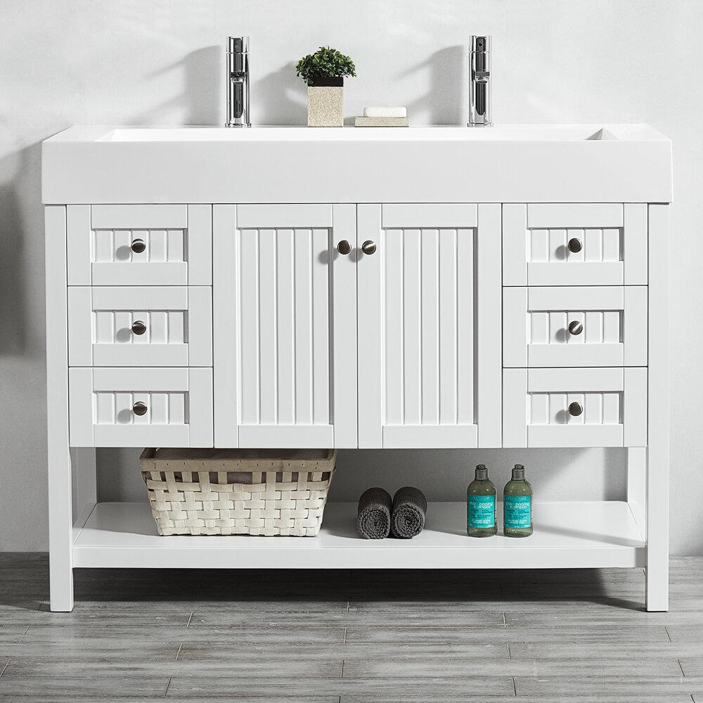Gracie Oaks Ashcraft 47 Single Bathroom Vanity Set Reviews Wayfair
