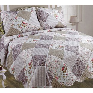 Ophelia & Co. Everson Patchwork Lilac Quilt