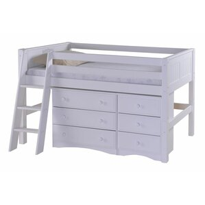 Isabelle Twin Low Loft Bed with Storage by Viv + Rae