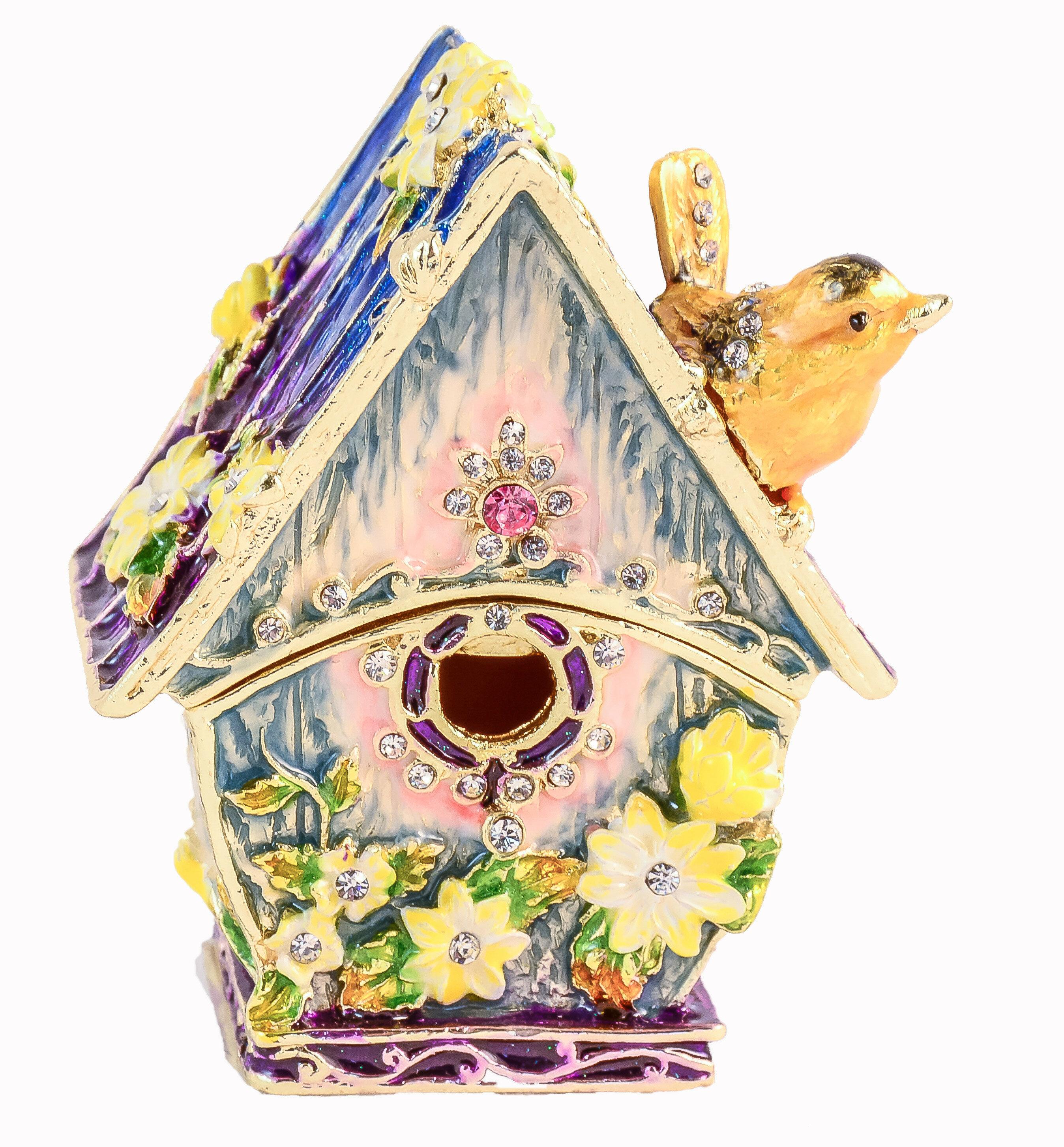 Ciel Collectables Jeweled Bird House Trinket Box Wayfair
