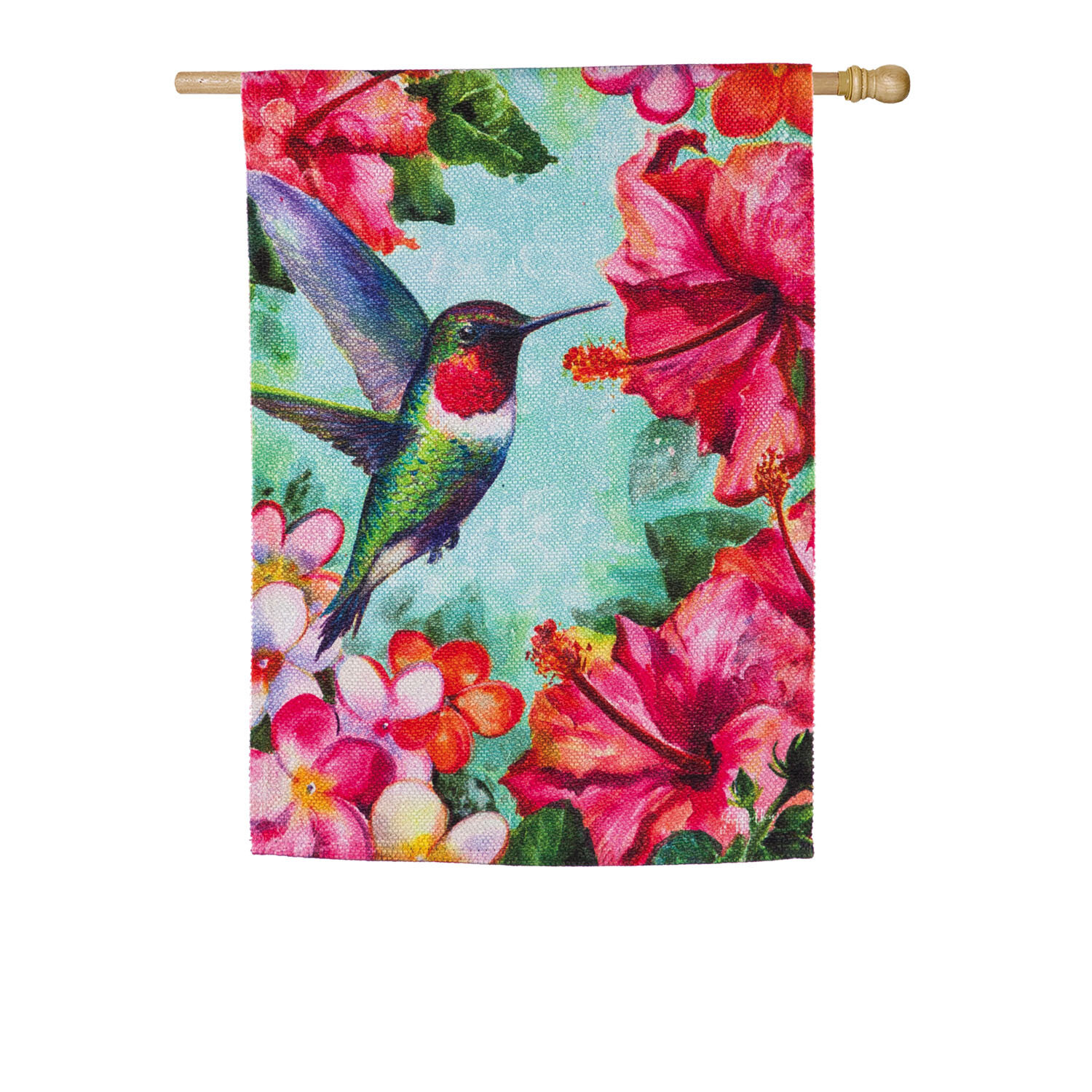 Evergreen Flag Garden Hummingbird And Hibiscus House Textured 2 Sided Suede 43 X 29 In Garden Flag Wayfair
