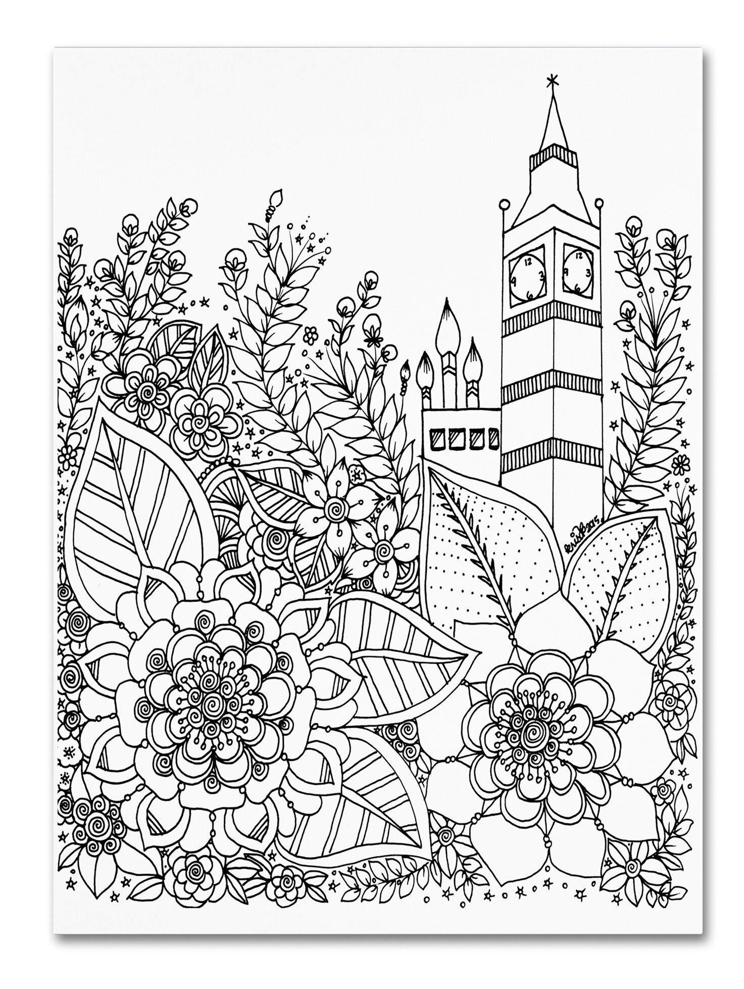 trademark art big ben by kcdoodleart graphic art on wrapped canvas 1970s House trademark art big ben by kcdoodleart graphic art on wrapped canvas wayfair